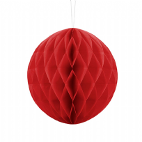 20cm Honeycomb Ball - Red